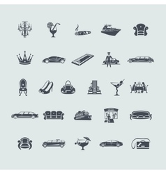Set of luxury icons vector