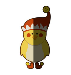 Silhouette of chicken with boots and christmas hat vector