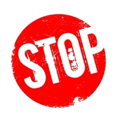 Stop rubber stamp vector