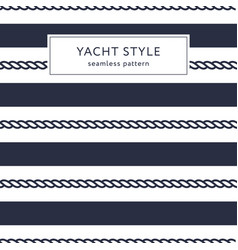 stripes and ropes seamless pattern vector image