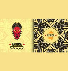 Stylish african banner design ethnic tribal art vector