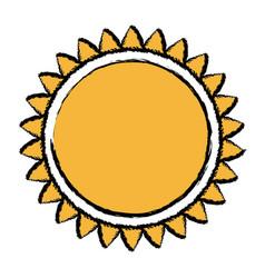 sun solar energy environmental renewable vector image