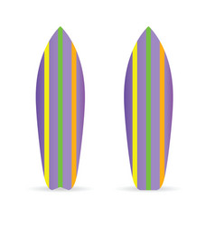 Surfboard set extreme vector