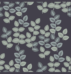 tapestry inspired leaves seamless pattern vector image