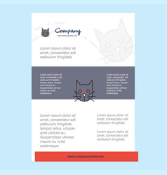 template layout for cat comany profile annual vector image