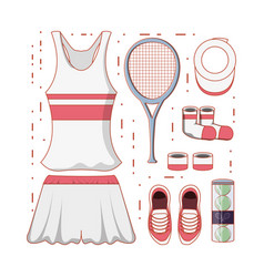 tennis women clothing icon vector image