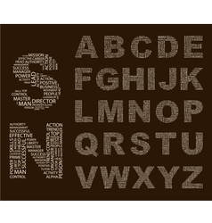 Typographics Font vector image