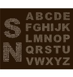 Typographics Font vector