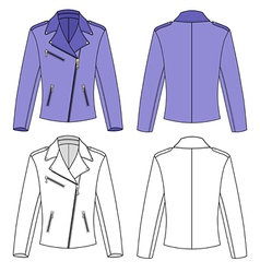Womans jacket vector