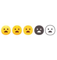 Yawning emoji vector
