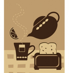breakfast tea vector image vector image