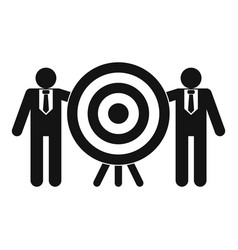company target icon simple style vector image
