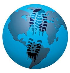 concept of global footprint vector image vector image