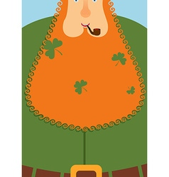 Good leprechaun Portrait of cheerful old man with vector image vector image