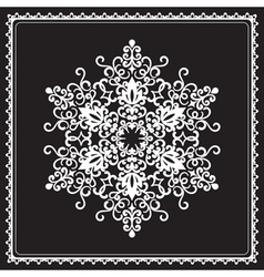 White snowflake vector image vector image