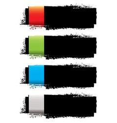 Grunge banner strip vector image vector image