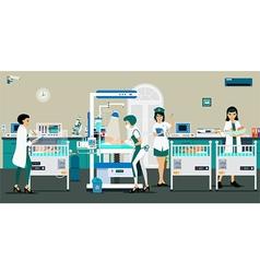 room newborn baby vector image vector image