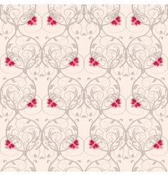 Seamless floral weaving pattern Gentle background vector image vector image
