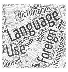 Speaking Easy in Foreign Language Training Word vector image vector image