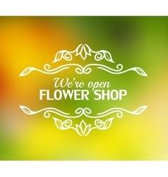 vintage badge for flower shop vector image vector image