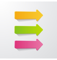 3 arrows vector image vector image