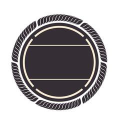 Circle seal stamp frame vector