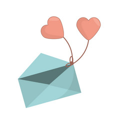 envelope message heart romance icon vector image