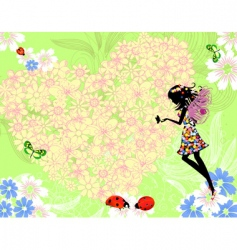summer valentine vector image vector image