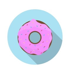 Flat design concept doughnut with icing with vector