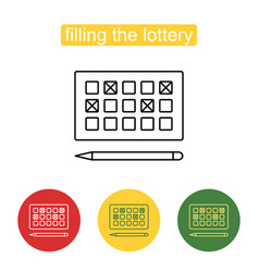 lottery games card for numbers selecting symbol vector image