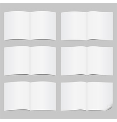 Open pages vector image vector image