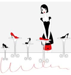 sexy girl shopping vector image vector image