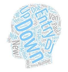 Top EDM DJ s Of text background wordcloud concept vector image vector image
