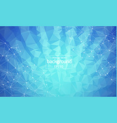 abstract blue light geometric polygonal vector image