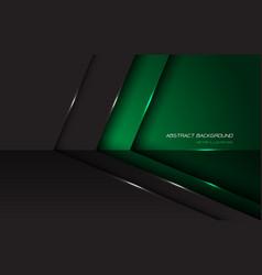 Abstract green grey metallic glossy arrow directio vector