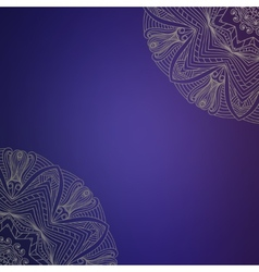 Abstract hand drawn background with lace vector image