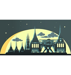 Abu Dhabi United Arab Emirates vampire city vector