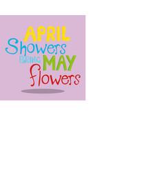 April showers showers 01 vector