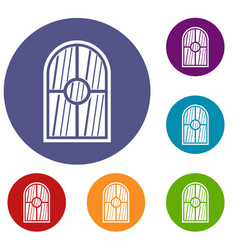 arched window icons set vector image