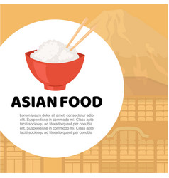 Asian food and chinese japanese cuisine cartoon vector