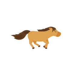 Beautiful brown horse pony jumping vector