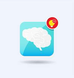 Brain icon notification vector