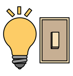 Bulb light with switch vector