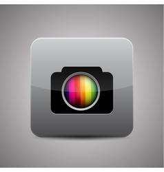 Camera application icon vector