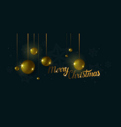 christmas and happy new year poster abstract 3d vector image