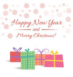 christmas gift box with vector image