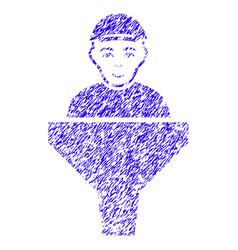Client sales filter icon grunge watermark vector