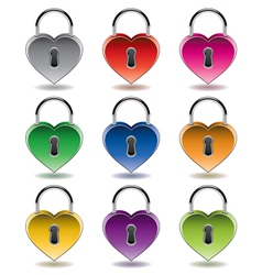 colorful metal padlocks vector image