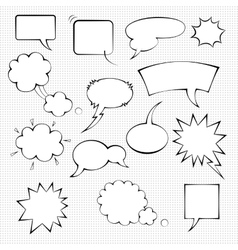 Comic speech bubble set vector