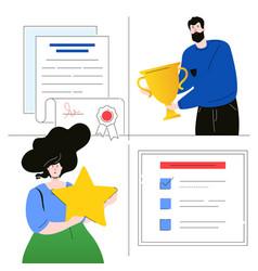 Company testimonials - flat design style colorful vector